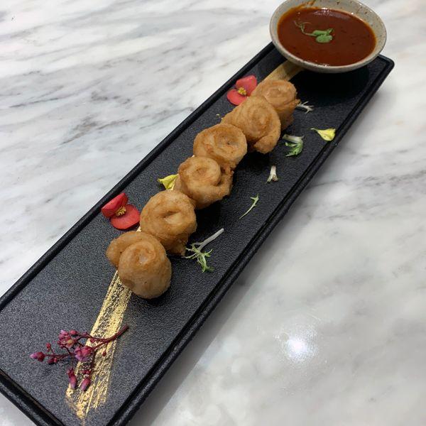 椒麻黄鱼卷 Rolled Yellow Croaker with Sichuan Peppercorn