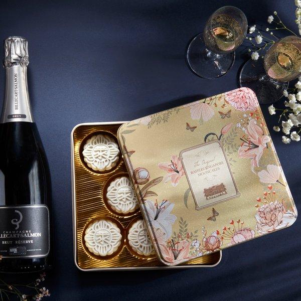 Champagne Truffle Snow-Skin Mooncake